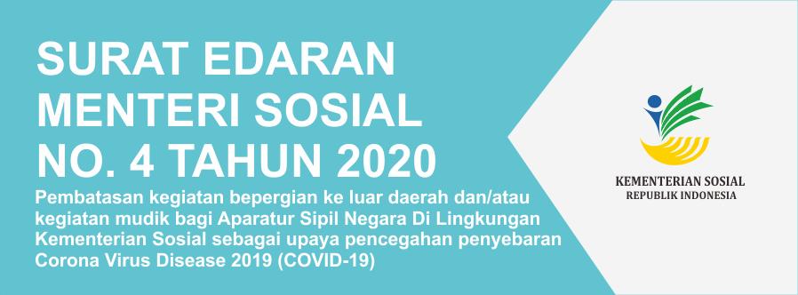 Surat Edaran Menteri Sosial Nomor 4 Tahun 2020