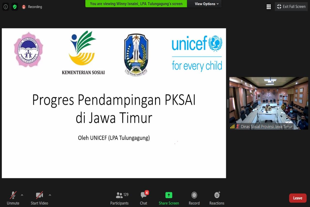 Kemensos Dukung Pengembangan Layanan Integratif melalui PKSAI Jatim
