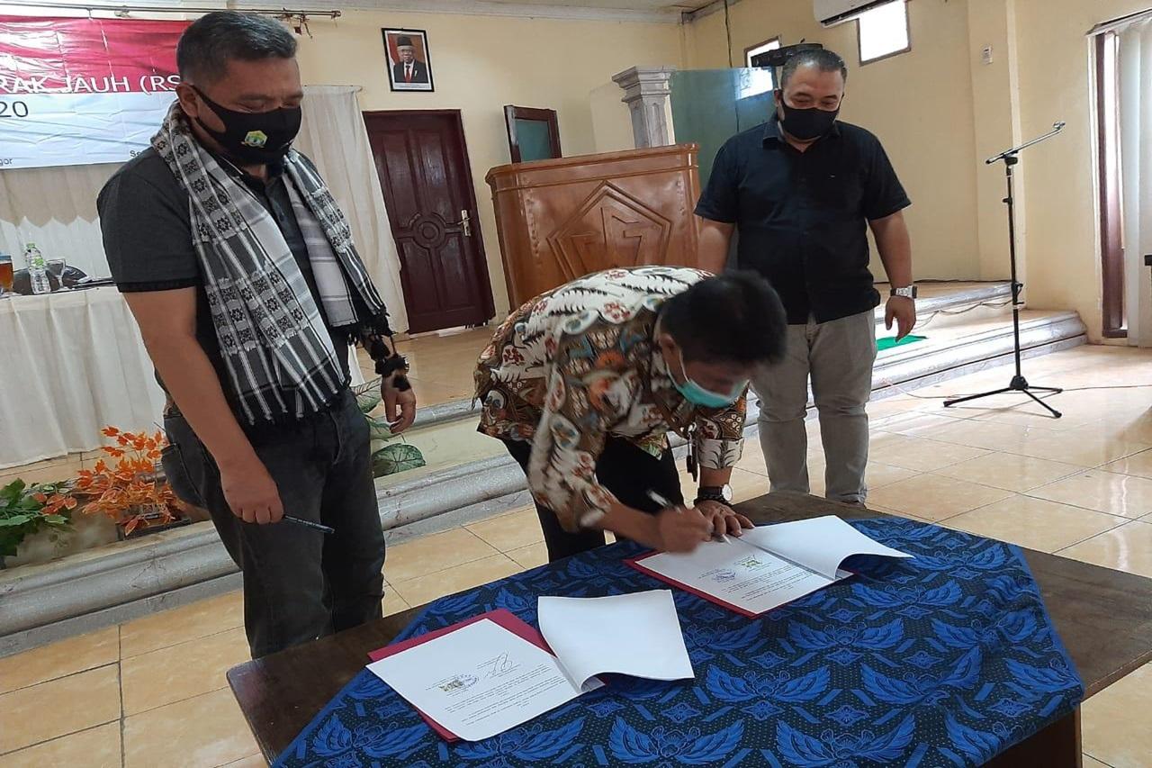 """Balai """"Ciungwanara"""" dan Dinas Sosial Kota Serang Tandatangani MoU Kerja Sama Program Rehabilitasi"""