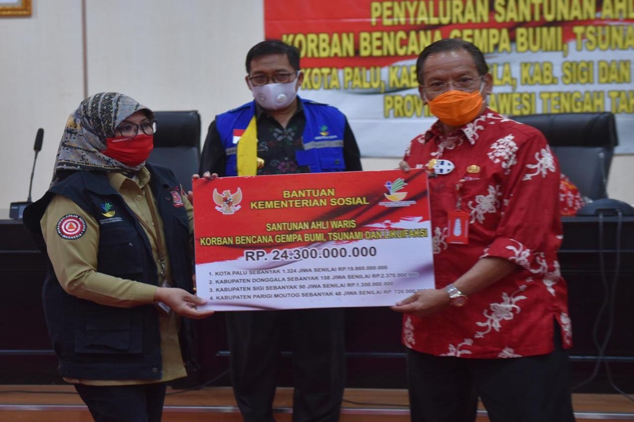 Kemensos Tuntaskan Santunan Ahli Waris 24,3 Milyar untuk Korban Tsunami Sulteng