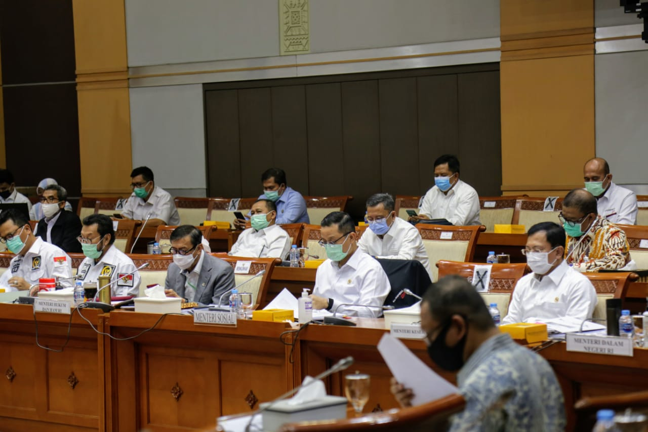 Kemensos dan Komisi VIII DPR RI Bahas RUU Penanggulangan Bencana