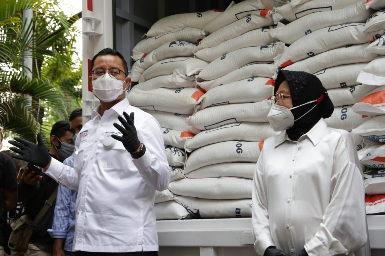 44 Ribu Keluarga di Surabaya Nikmati Beras Medium Bantuan Kemensos