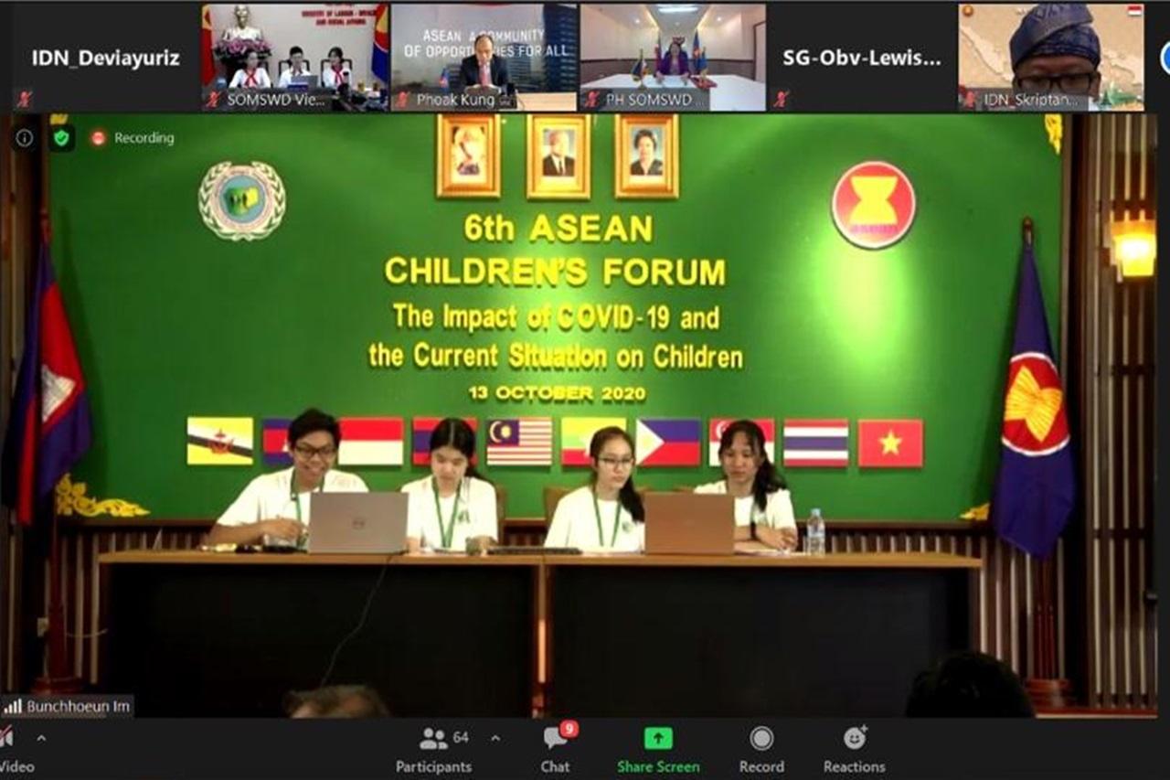 Kementerian Sosial Dampingi Delegasi Anak Indonesia pada 6th ASEAN