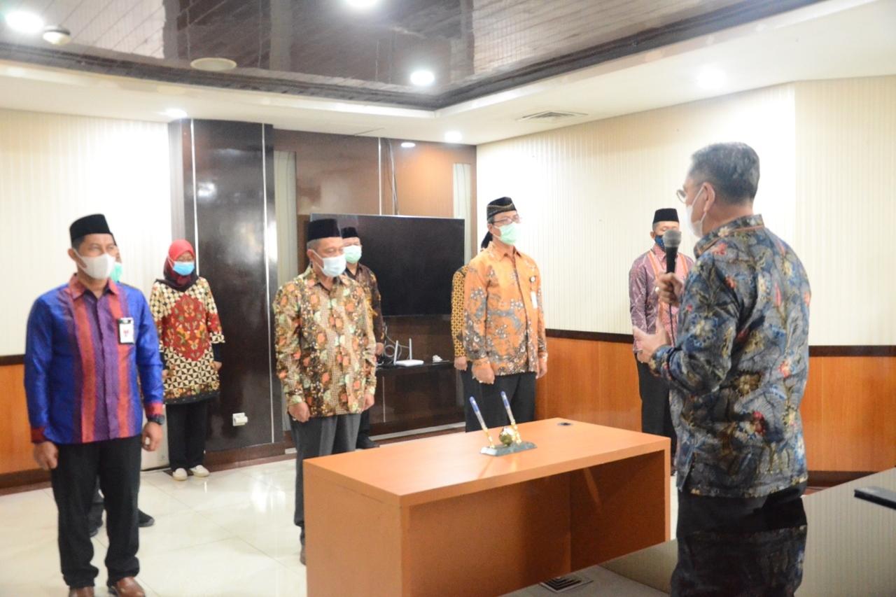 Sertijab 12 Pejabat Administrator dan Pengawas di Lingkungan Ditjen Linjamsos