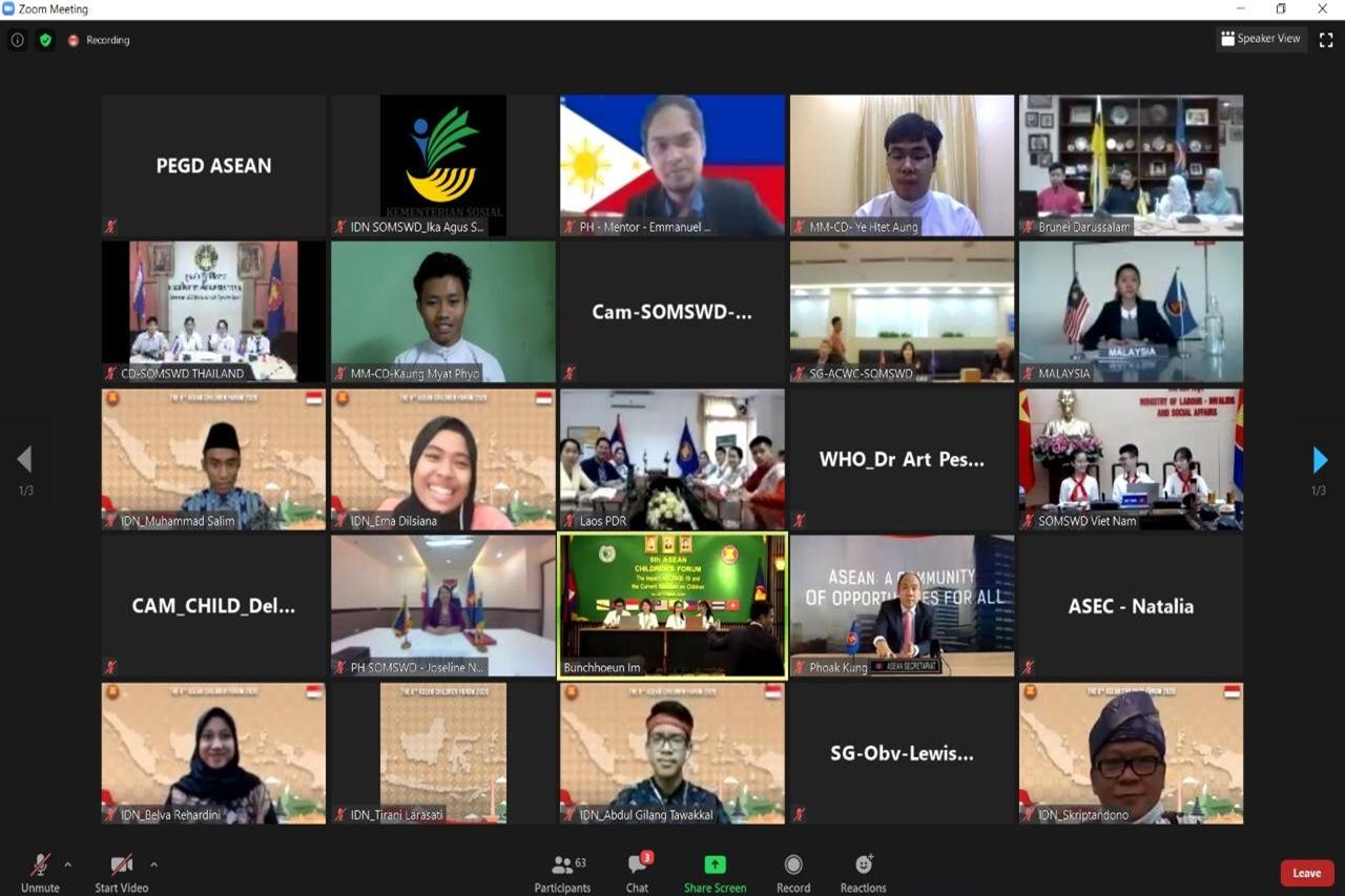 Di Forum Anak ASEAN, Delegasi RI Paparkan 3 Strategi Lindungi Anak Dampak COVID-19