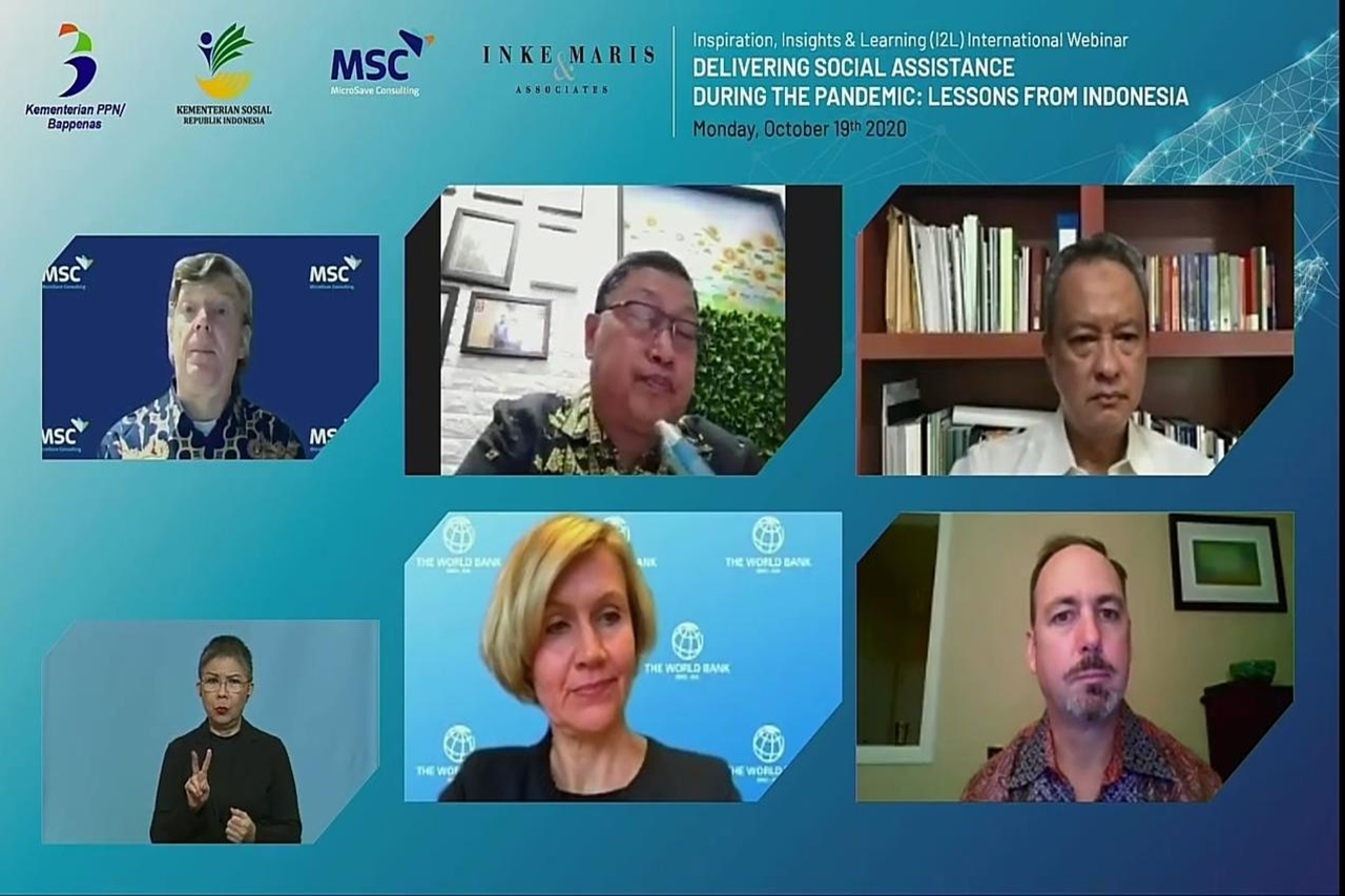 Held International Webinar, Distribution of Pandemic Social Assistance: Learning from Indonesia