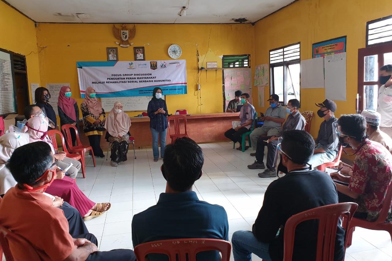 Kemensos Lakukan Atensi Berbasis Komunitas di Kabupaten Sukabumi