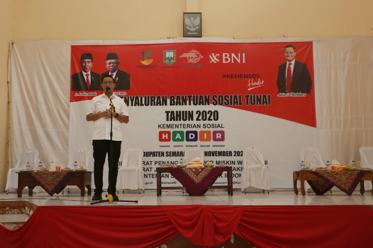 Mensos Pantau Penyaluran BST dan Program Sembako dan Pencairan PKH di Kabupaten Semarang