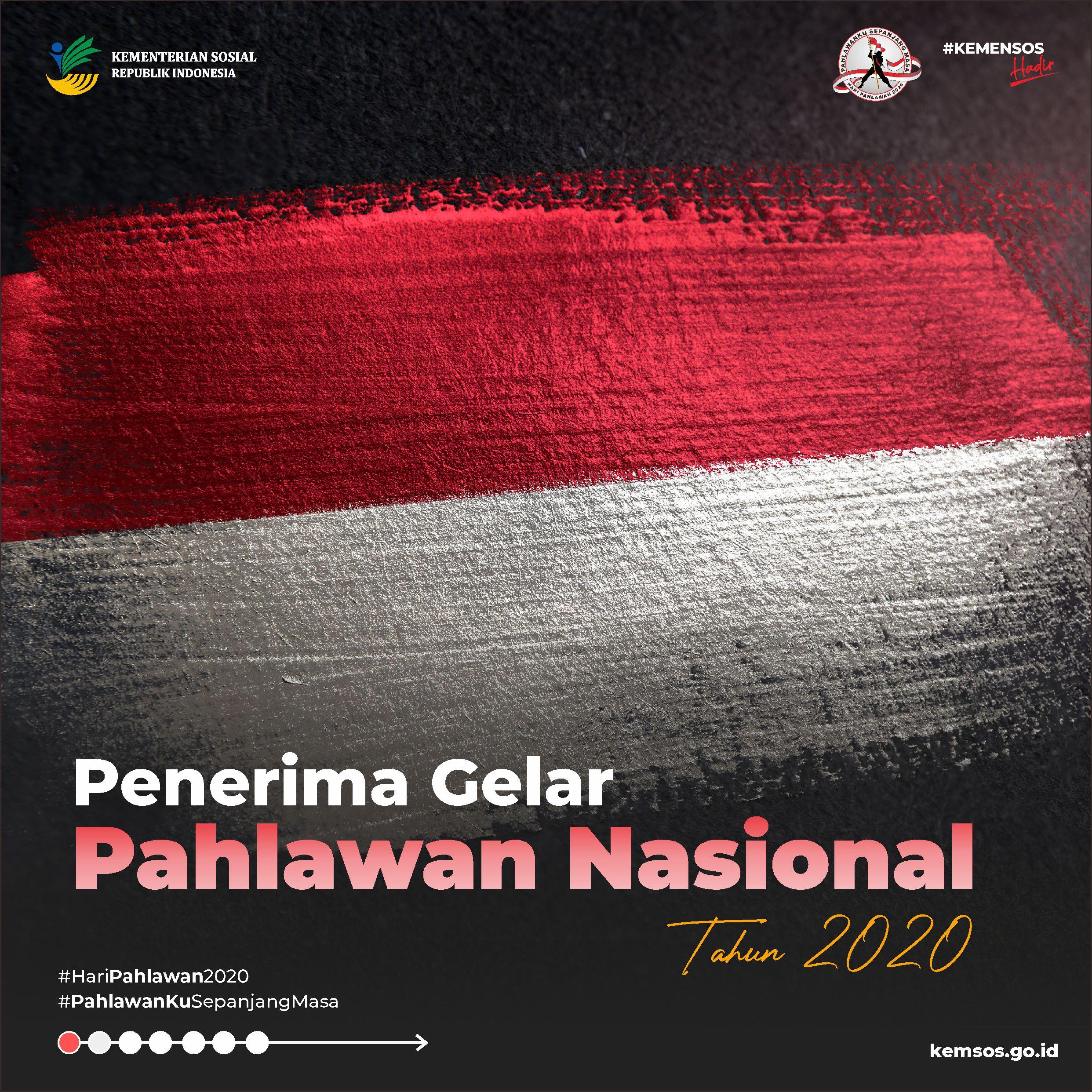 Penerima Gelar Pahlawan Nasional Tahun 2020