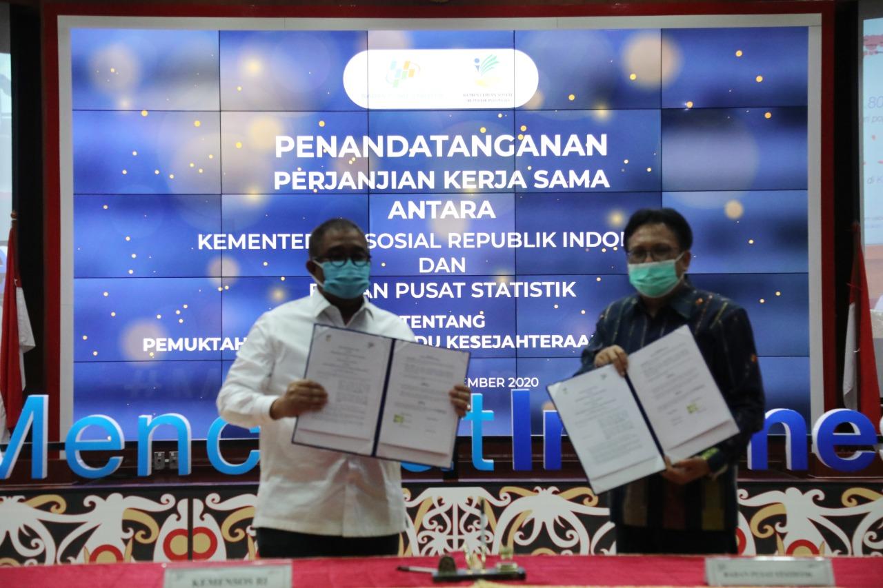 Kerja Sama Kemensos dan BPS Terkait Pemutakhiran DTKS Tahun 2021