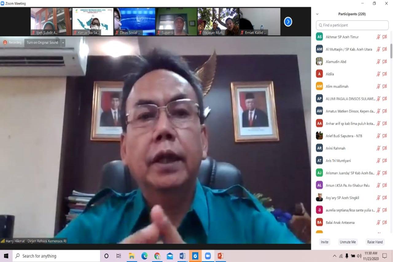 Dukung Satu Data Kesejahteraan Sosial Indonesia, Direktorat Rehabilitasi Sosial Anak Gelar Rapat Koordinasi DTKS