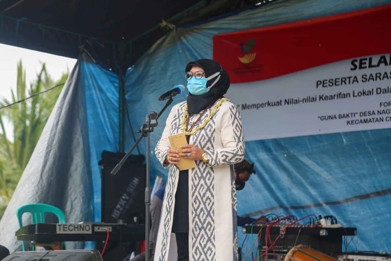Kemensos Bangun Tugu Keserasian Sosial di Tasikmalaya
