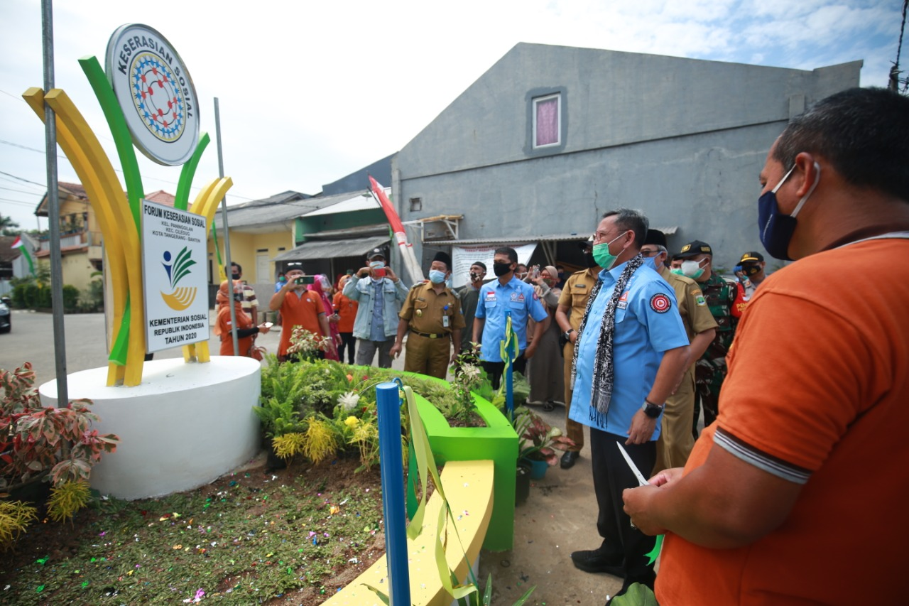 Social Disaster Mitigation, Ministry of Social Affairs Inaugurates Social Harmony Monument in Ciledug