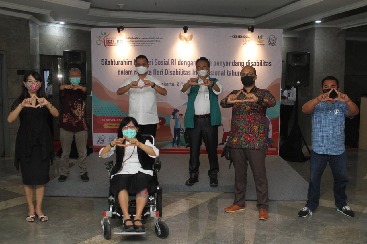 Mensos Juliari Gelar Silaturahmi dengan Tokoh dan Pegiat Hak-Hak Penyandang Disabilitas