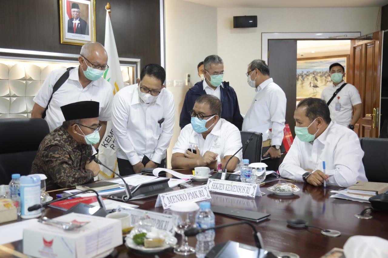 Rapat Koordinasi Menko PMK bersama Pimpinan Kemensos