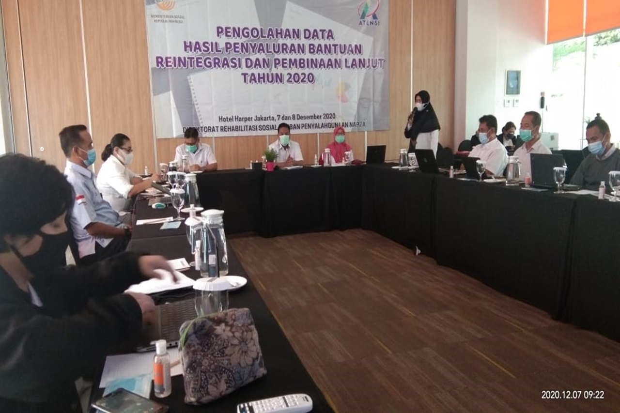Direktorat NAPZA Kemensos Duduk Bersama Olah Data Penyaluran Bantuan Reintegrasi