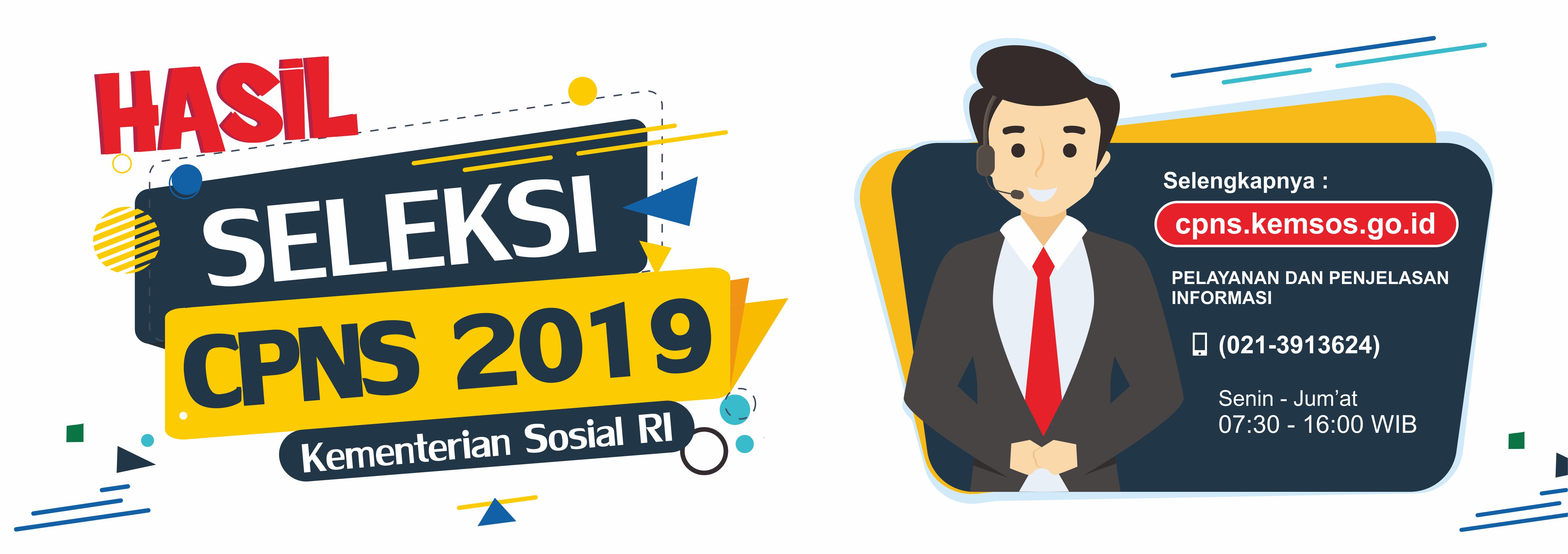 Hasil Seleksi CPNS Kementerian Sosial Tahun 2019