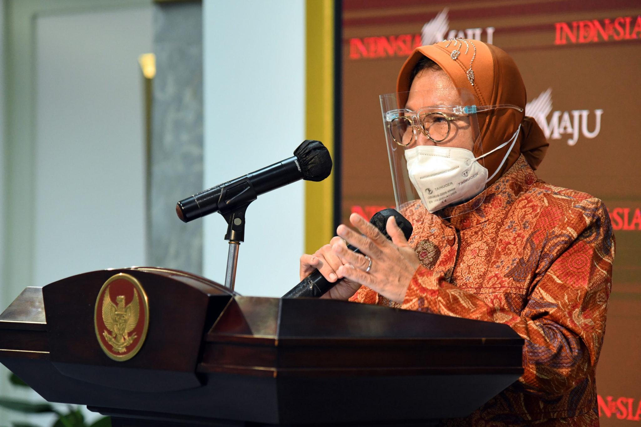 Risma: Awal Tahun 2021, Tiga Bansos Salur Serentak Seluruh Indonesia
