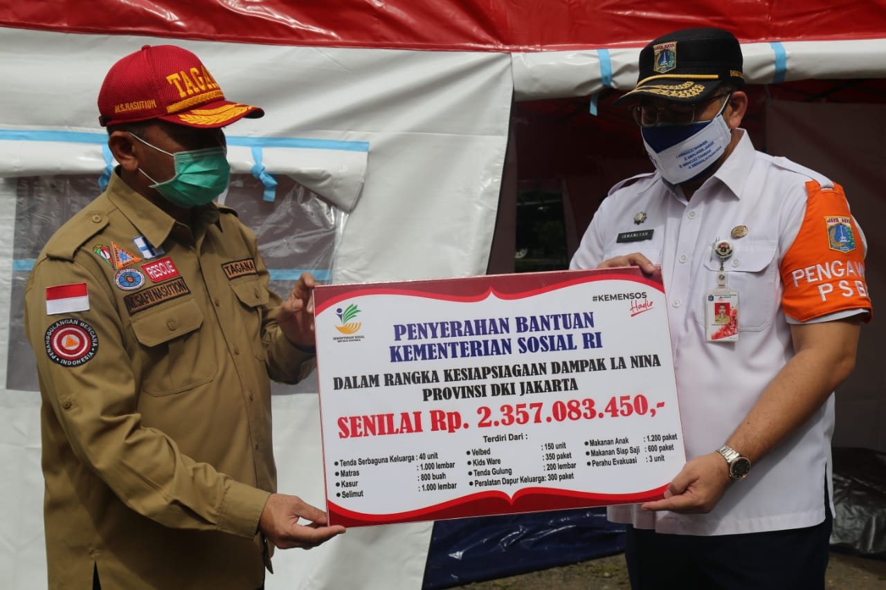 Anticipating the Impact of La Nina, Ministry of Social Affairs Supports Disaster Management Facilities and Infrastructure for DKI Jakarta Province