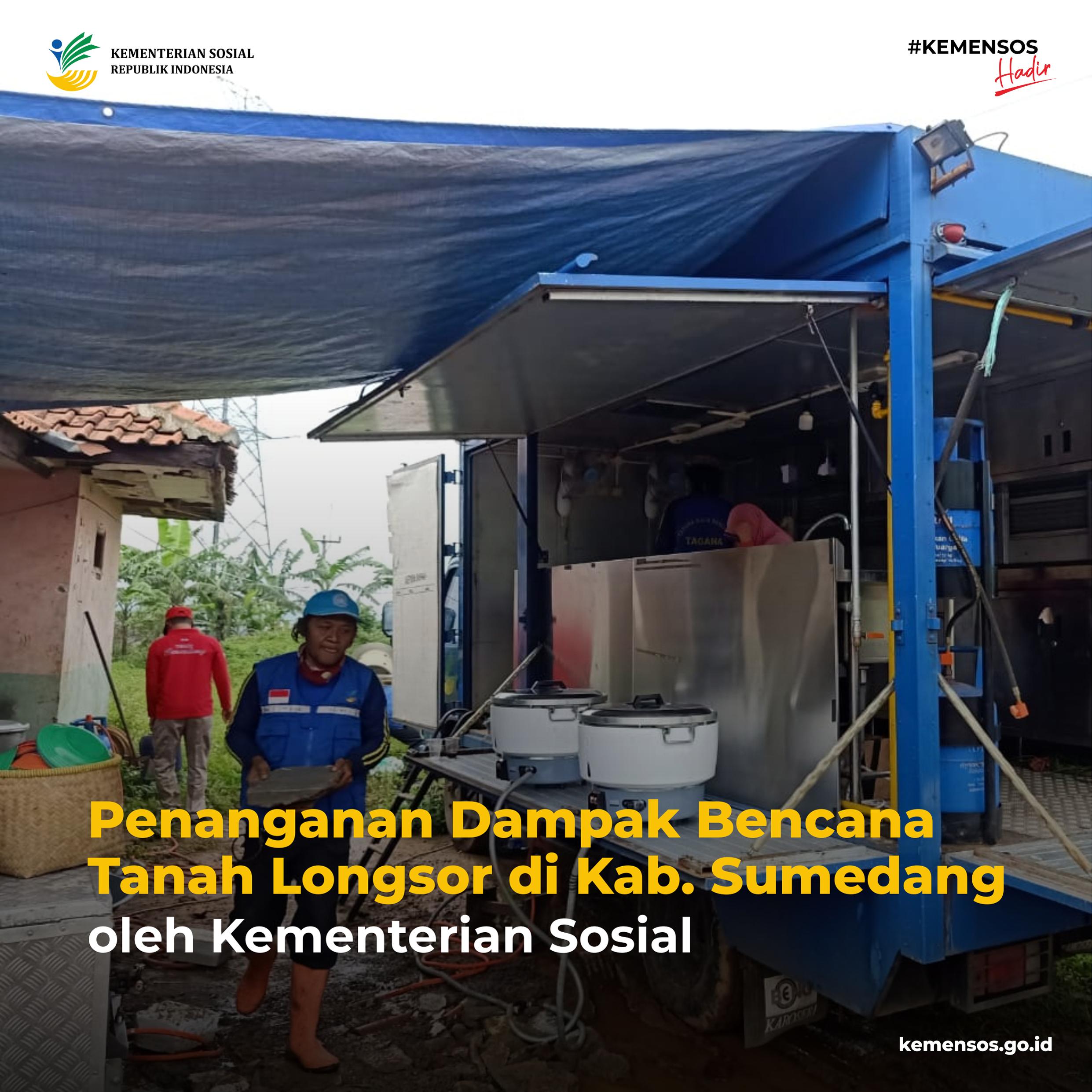 Penanganan Dampak Bencana Tanah Longsor di Sumedang, Jawa Barat