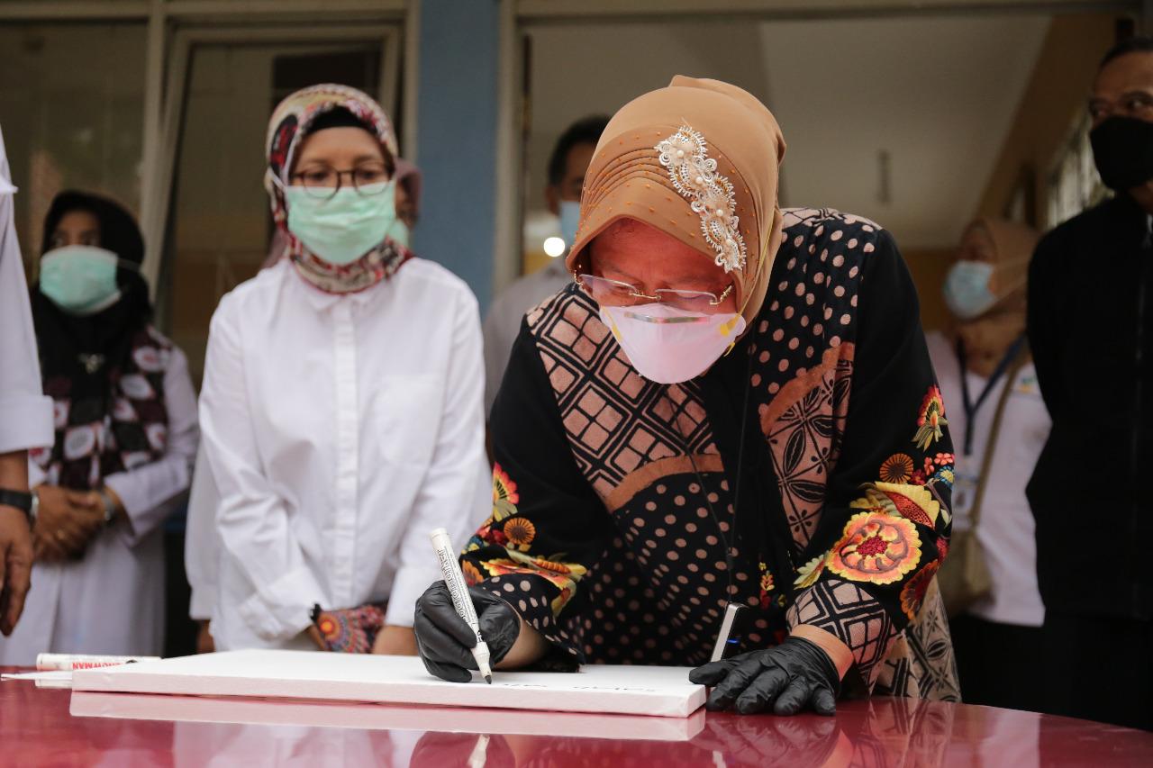 """Kunjungan Mensos Risma ke BRSAMPK """"Handayani"""" Jakarta"""
