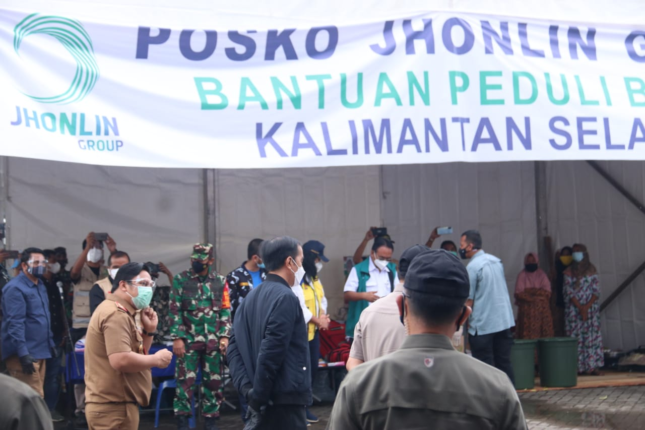 The President of the Republic of Indonesia Visits South Kalimantan, Greet Flood Victims and Deliver Aid