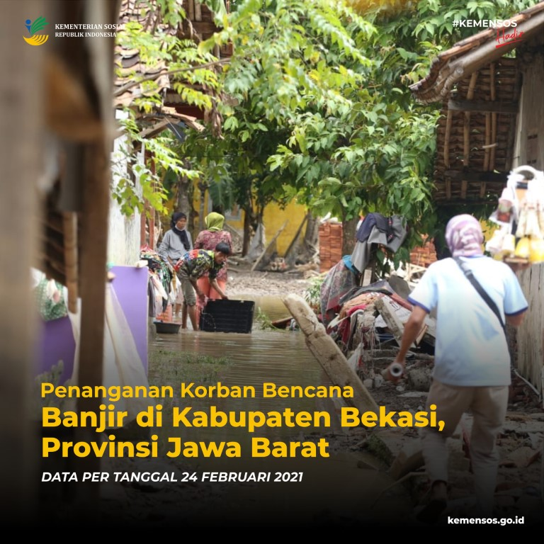 Penanganan Korban Bencana Banjir Kabupaten Bekasi