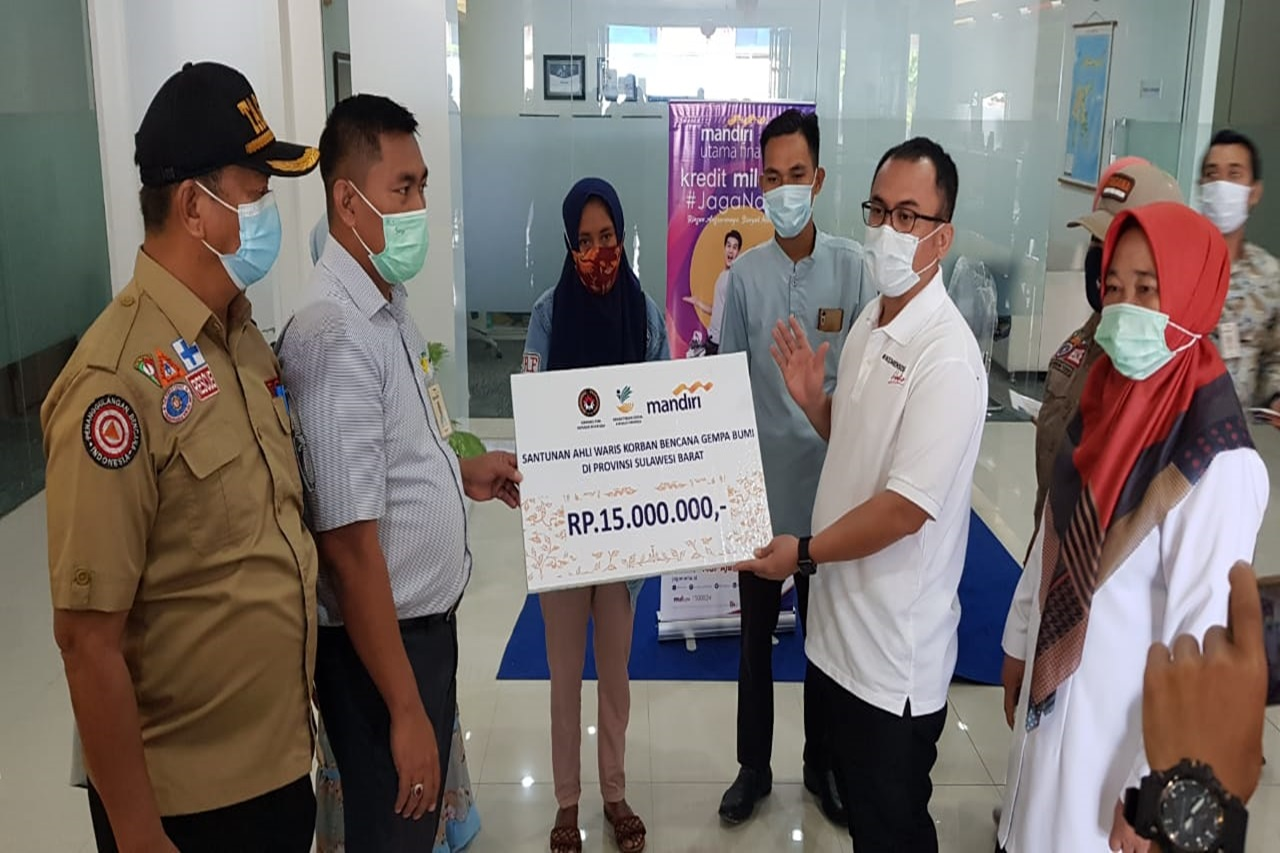 13 Ahli Waris Korban Gempa Sulbar di Kabupaten Majene Terima Santunan dari Kemensos