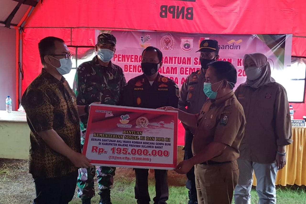 Komisi VIII DPR RI Pantau Penyaluran Santunan Ahli Waris Gempa Sulbar