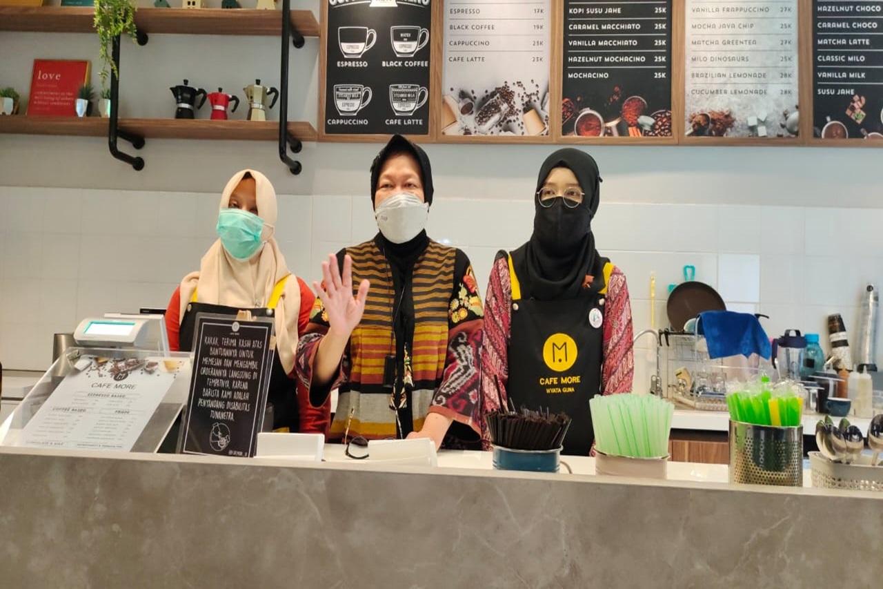 Kemensos Siapkan Sentra Kreasi ATENSI di Bandung: Kafe More jadi Daya Tariknya