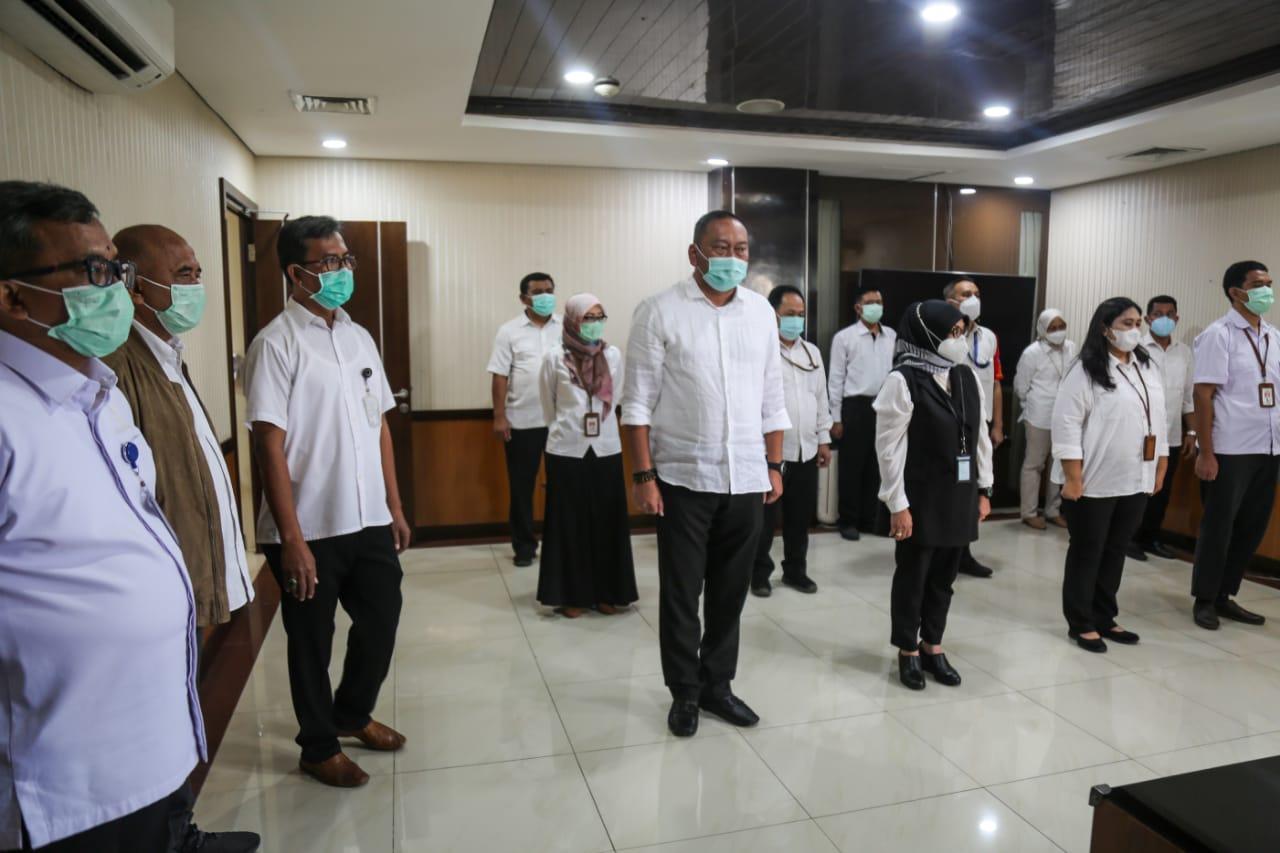 Sertijab Tiga Pejabat di Lingkungan Ditjen Linjamsos