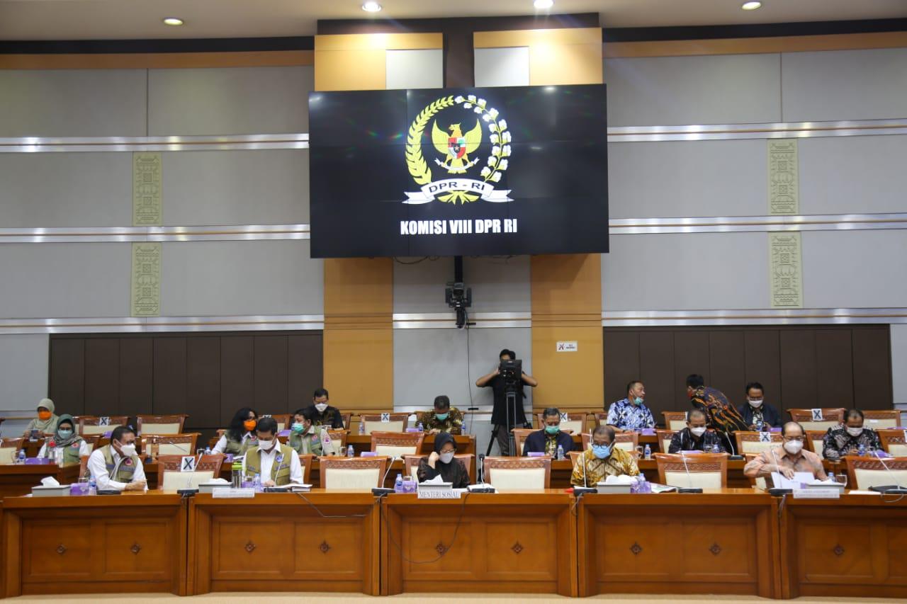 Rapat Kerja Pembahasan Anggaran Penanggulangan Bencana Bersama Komisi VIII DPR RI
