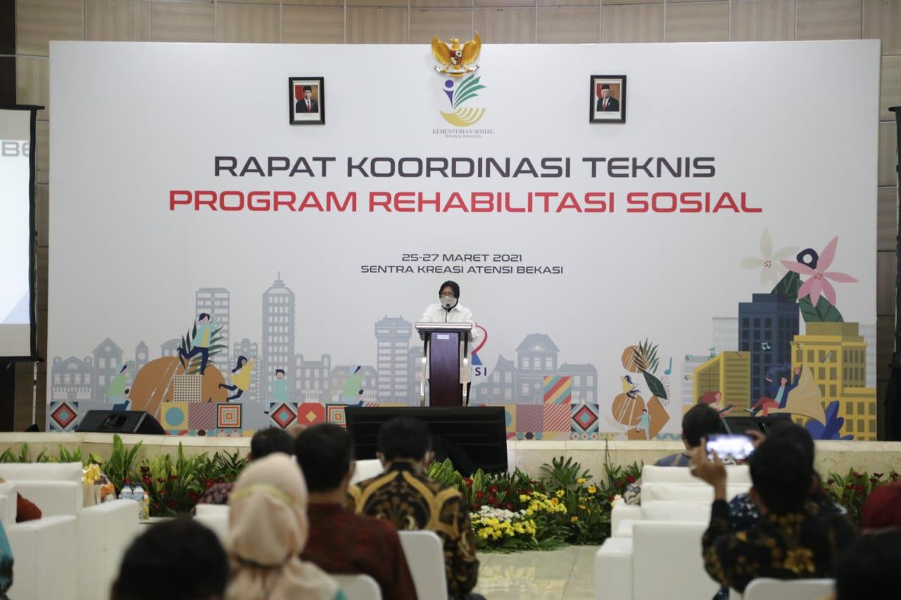 Buka Rakornis Ditjen Rehsos 2021, Mensos: Perkuat Integrasi dan Perbanyak Inovasi