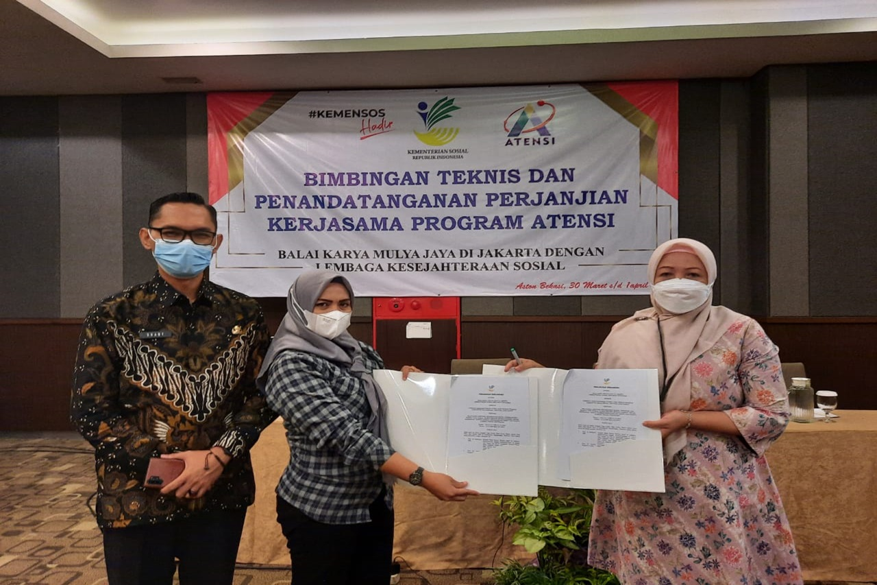 "Balai Karya ""Mulya Jaya"" Selenggarakan Bimbingan Teknis ATENSI Berbasis Komunitas"