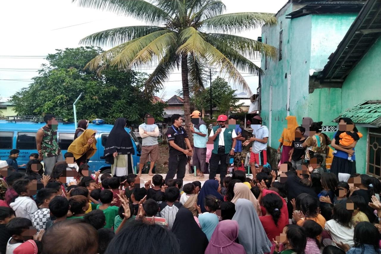 Kemensos Berikan Layanan Dukungan Psikososial bagi Anak Korban Bencana Banjir Bima