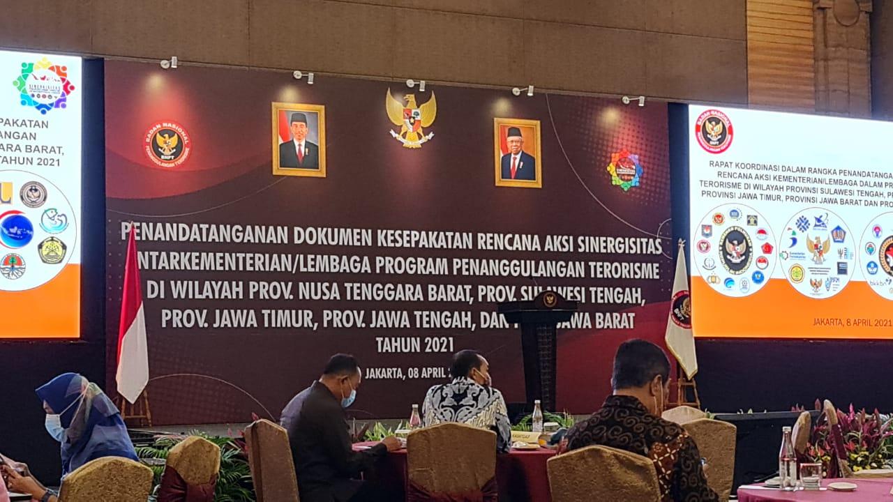 Penandatanganan Dokumen Kesepakatan Rencana Aksi Sinergitas Antar Kementerian/Lembaga Program Penanggulangan Terorisme