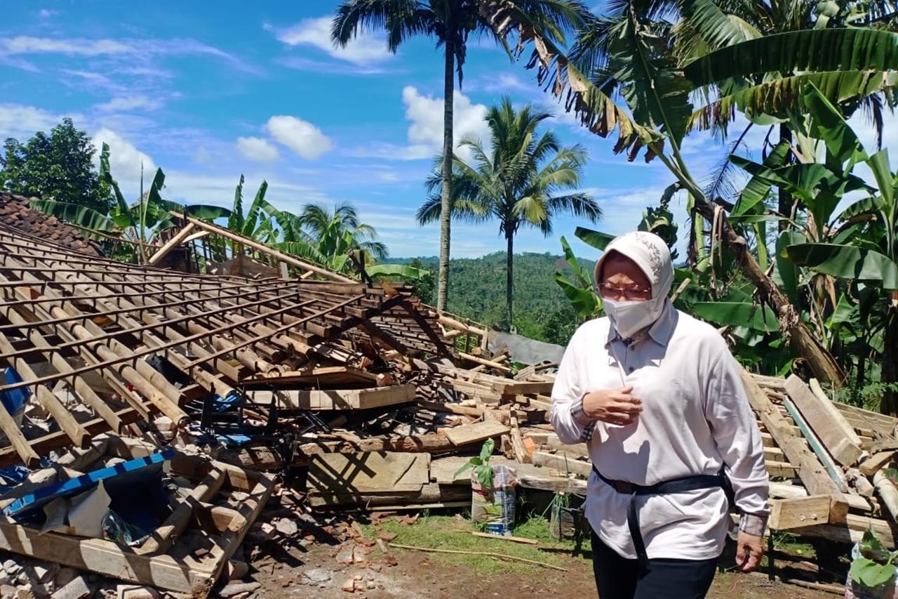 Tanggap Bencana Gempa Malang, Mensos Jamin Perlindungan Sosial Korban