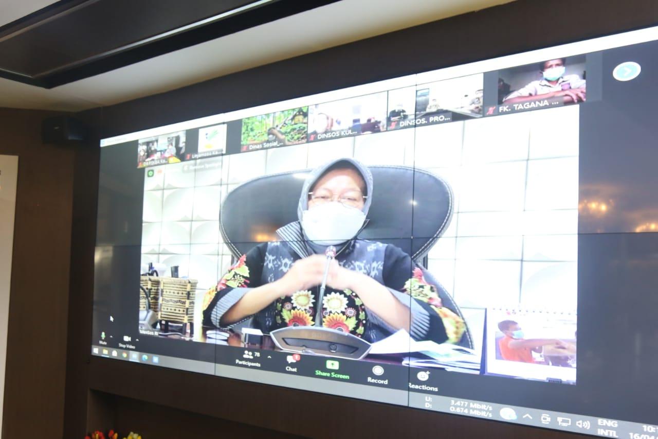 Mensos Pimpin Rapat Virtual Kesiapsiagaan Bencana 'Megathrust'