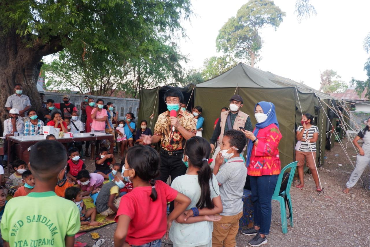 Kemensos Gandeng LPAI Berikan Atensi dan LDP kepada Anak Terdampak Badai Seroja