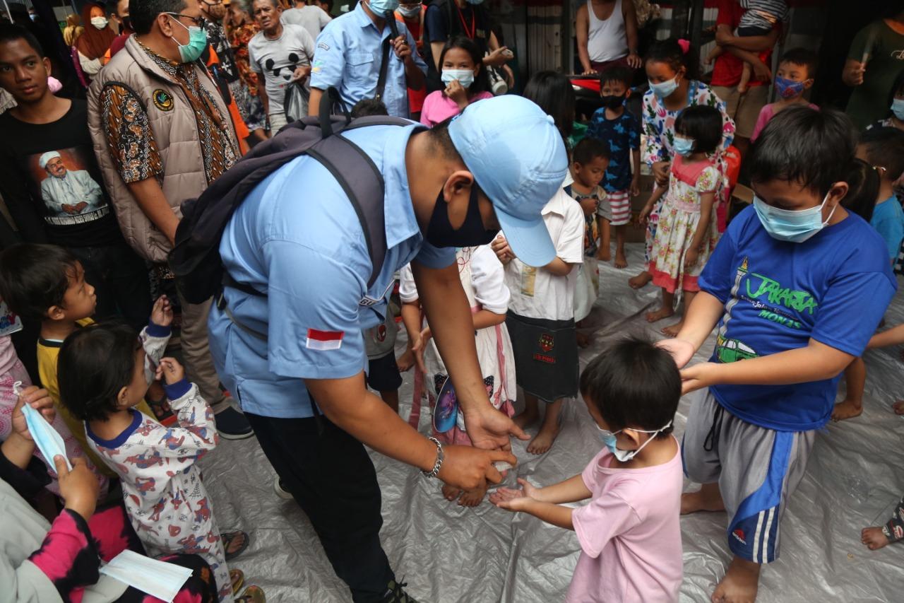 Pendampingan LDP pada Anak-anak Korban Kebakaran Keagungan