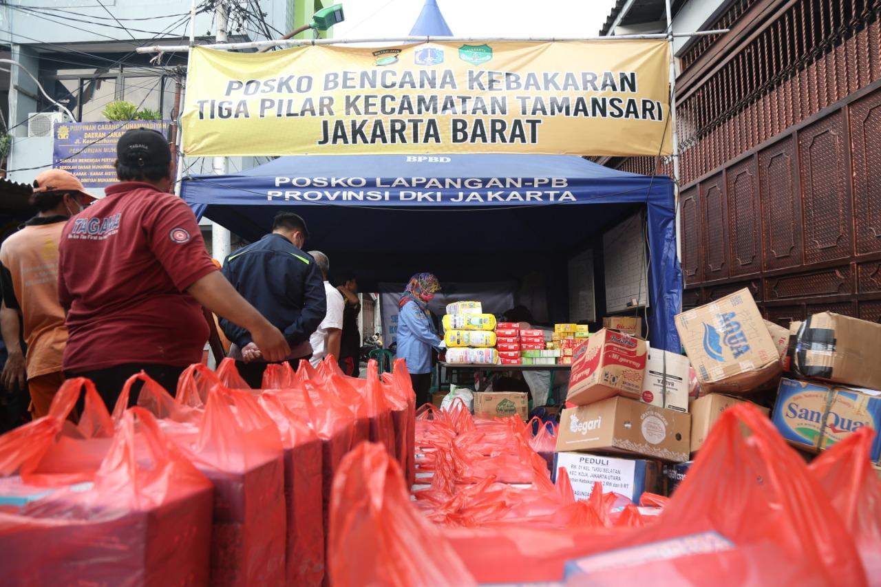 Penyaluran Bantuan untuk Korban Kebakaran Keagungan