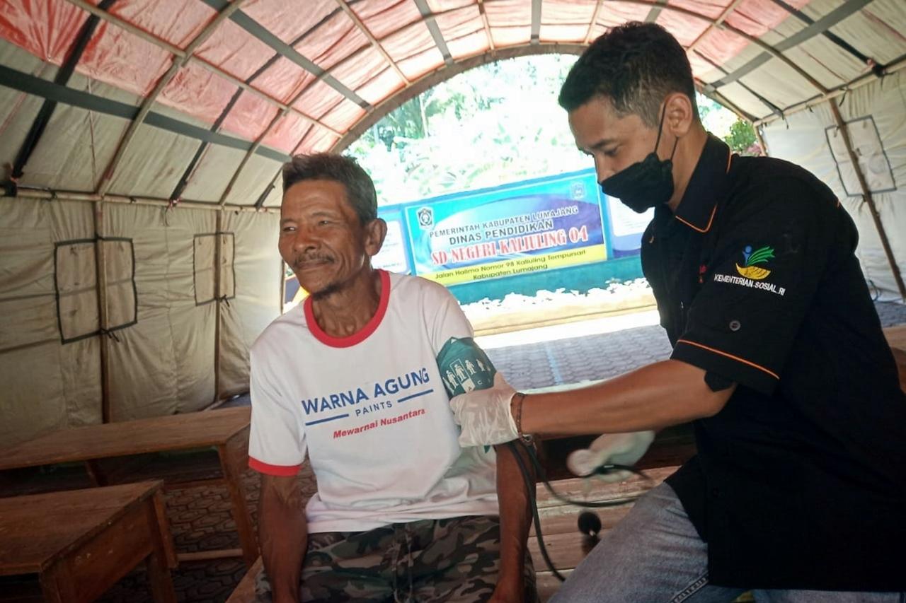 Kemensos Kirim Tim LDP Dampingi Pengungsi Gempa di Lumajang