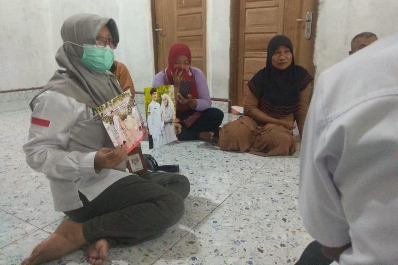 The Ministry of Social Affairs Provides LDP to Families of KRI Nanggala 402 Victims in Siak Regency, Riau