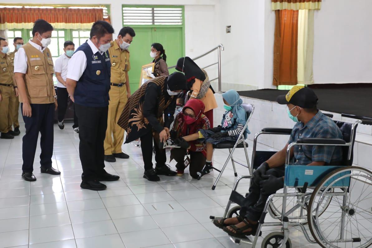 Mensos Kunjungi BRSPDF Budi Perkasa Palembang