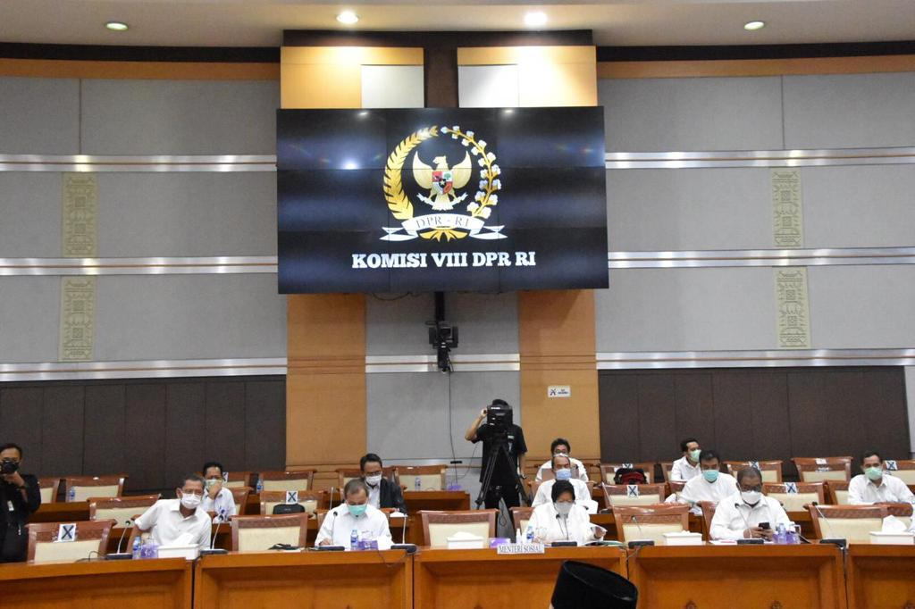 Rapat Komisi VIII DPR RI, Mensos Harapkan Optimalisasi Data Pada DTKS