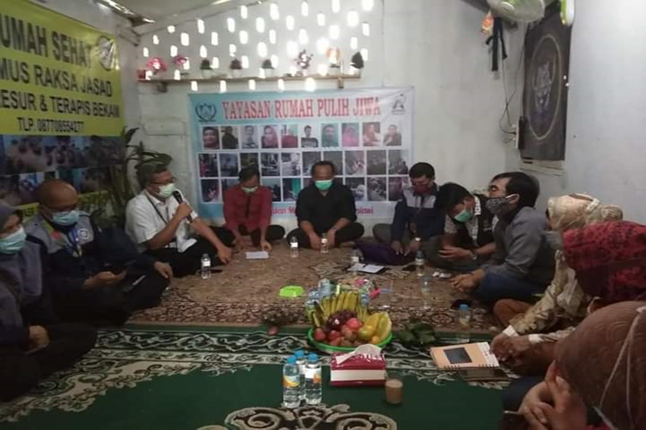 Kemensos Hadir Beri Penguatan di LKS Yayasan Rumah Pulih Jiwa Cianjur