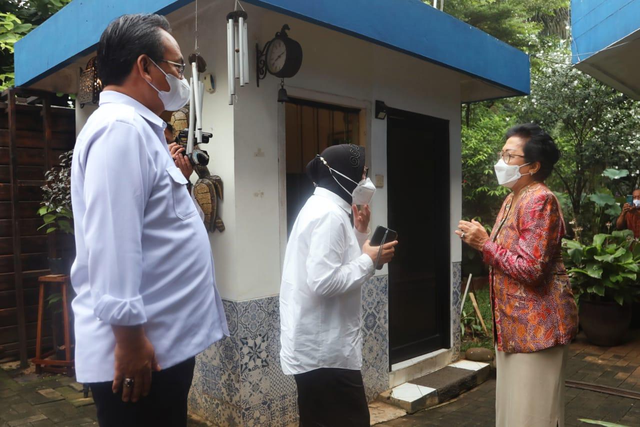Silaturahmi Mensos dengan Ibu Inten Soeweno