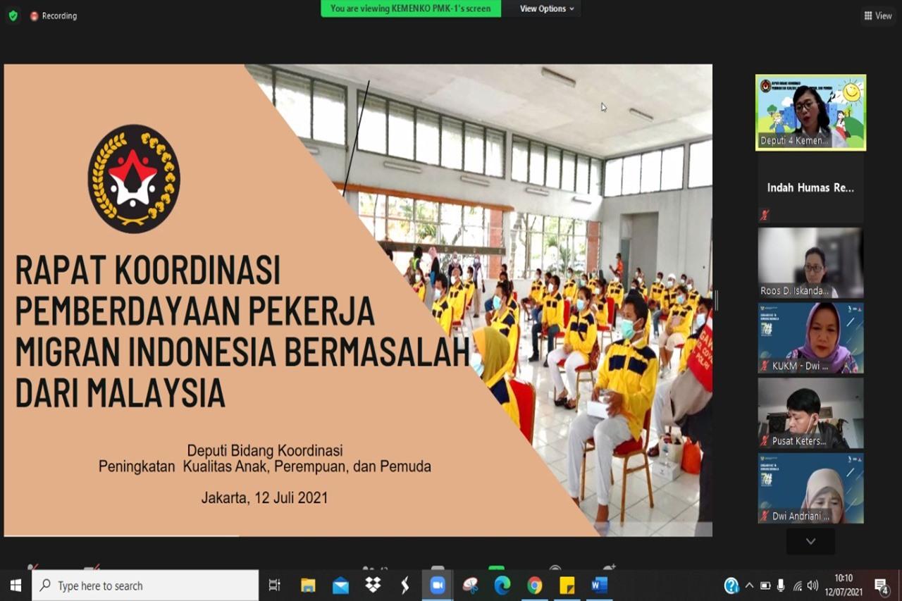 Kemensos Siap Beri Pemberdayaan PMIB dari Malaysia melalui Sentra Kreasi ATENSI