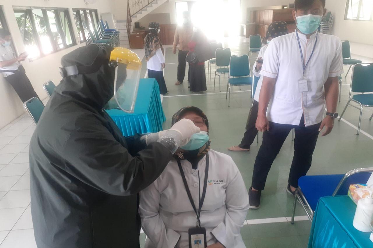 Deteksi Dini Penyebaran Covid-19, Balai Margo Laras Kembali Lakukan Test Antigen