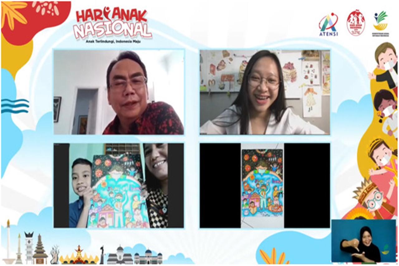Kemensos Gelar Workshop Melukis Mimpi Anak Tangguh